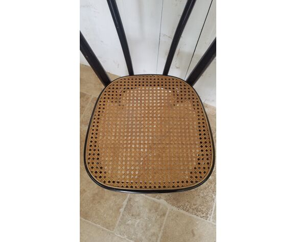 Chaise de bistrot assise cannage