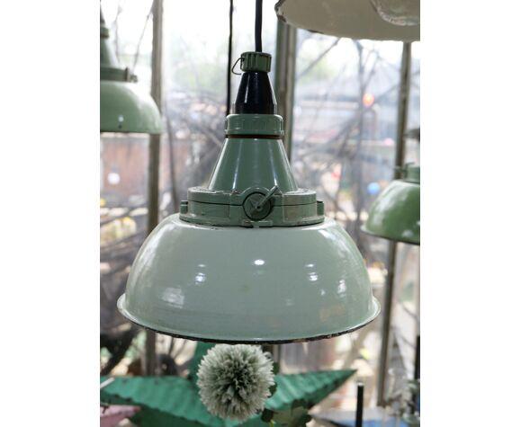 Abat jour suspension atelier holophane lampe industrielle