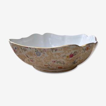 Plat en porcelaine de Limoges , marqué Louis Lourioux , Foecy , style art déco , vintage France 1950