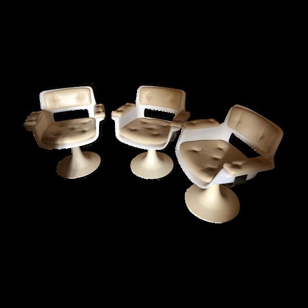 Lot de 3 fauteuils Albert Jacob vintage