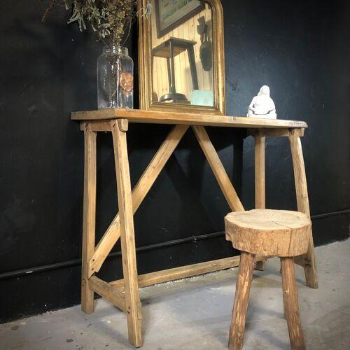 Ancienne table établi à lessiver