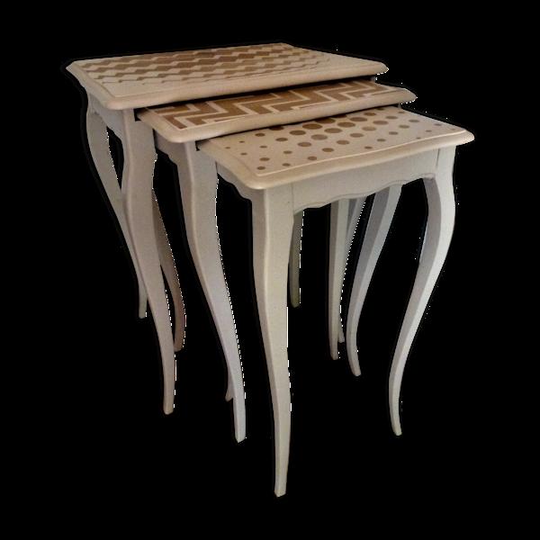 Selency Tables gigognes, restaurée, excellent état