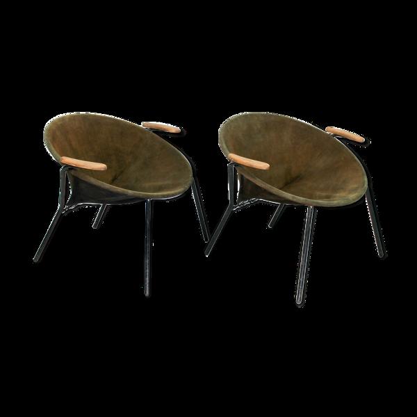 Selency Ensemble de 2 fauteuils Balloon