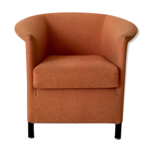 Orange armchair by Paolo Piva for Wittmann, Model Aura