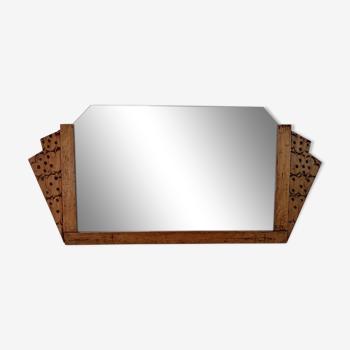 Miroir époque Art Déco en bois sculpté