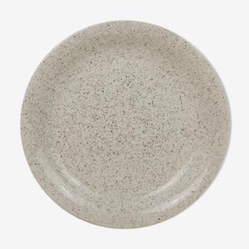 Plat tacheté blanc marron Ceraminter Italie