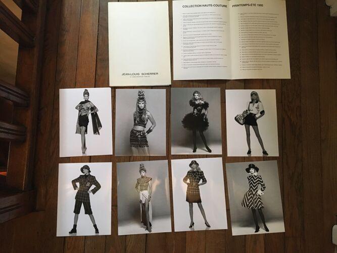 Jean-Louis Scherrer: illustration de mode & cliché de presse vintage