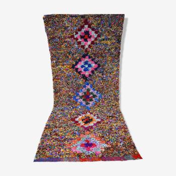 Berber carpet boucherouite 227 x 98 cm