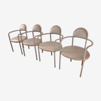 Jeu de 4 chaises par Bieffeplast Padova