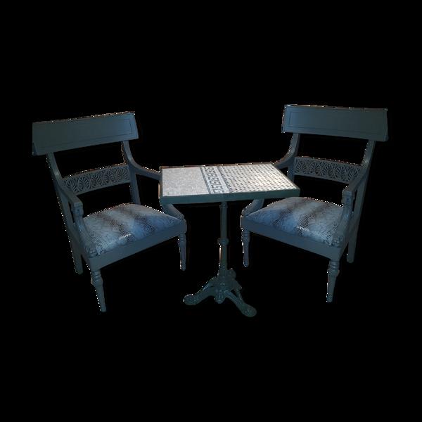 Selency Fauteuils et table