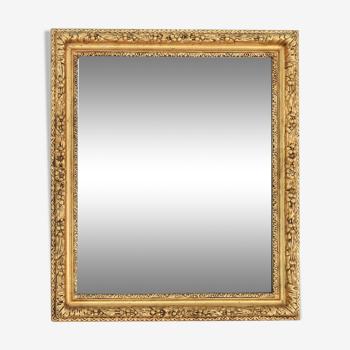 Rectangular mirror in gilded wood  49x56cm