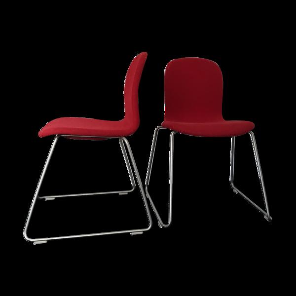 Selency Duo de chaises modèle tate de Jasper Morrison édition Capellini