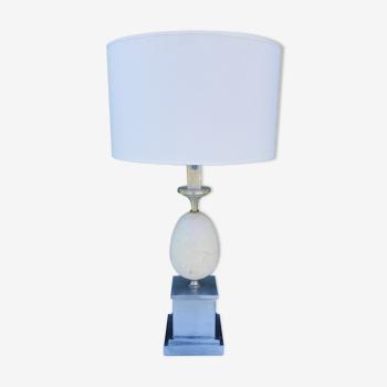 Lampe oeuf en marbre des années 70 bf Italie