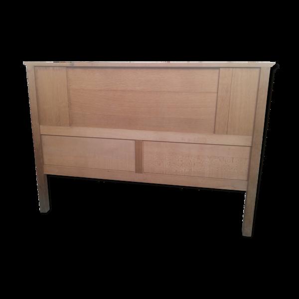 Tête de lit style scandinave bois de chêne vintage années 50
