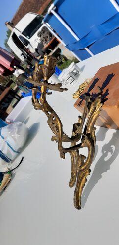 Paire d' appliques en bronze
