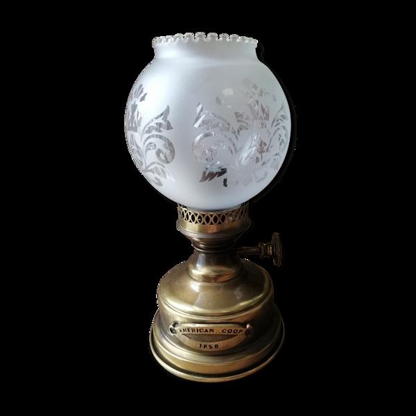 Lampe à pétrole American coop 1850