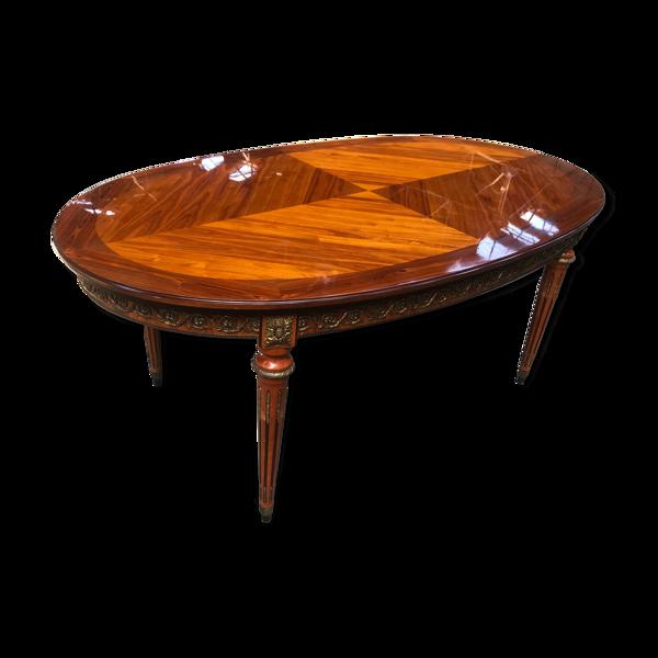 Selency Table à manger de style Louis XVI avec allonges intégrées