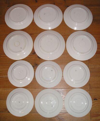 Service de table 6 personnes faience Badonviller 12 pièces