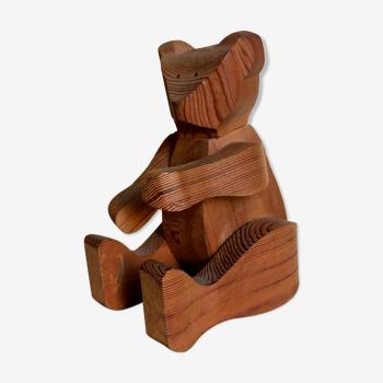 Ours jouet en bois articulé de Christian Poumeyrol