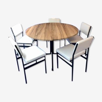 Lot d'1 table et 6 chaises Steiner