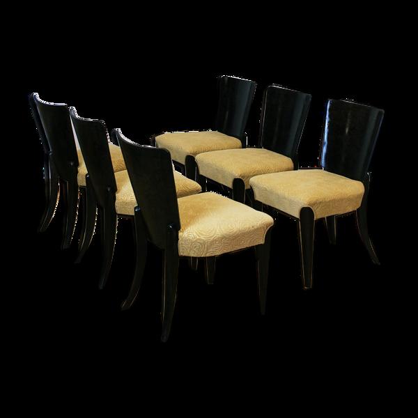 Selency Ensemble de six chaises art déco modèle H 214 de Jindrich Halabala pour UP Zavody, années 1930