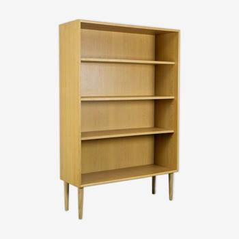 Étagère bibliothèque vintage années 60 chêne blond retro