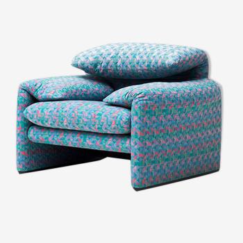 Easy chair sofa Maralunga by Vico Magistretti for Cassina, Italy, 1973