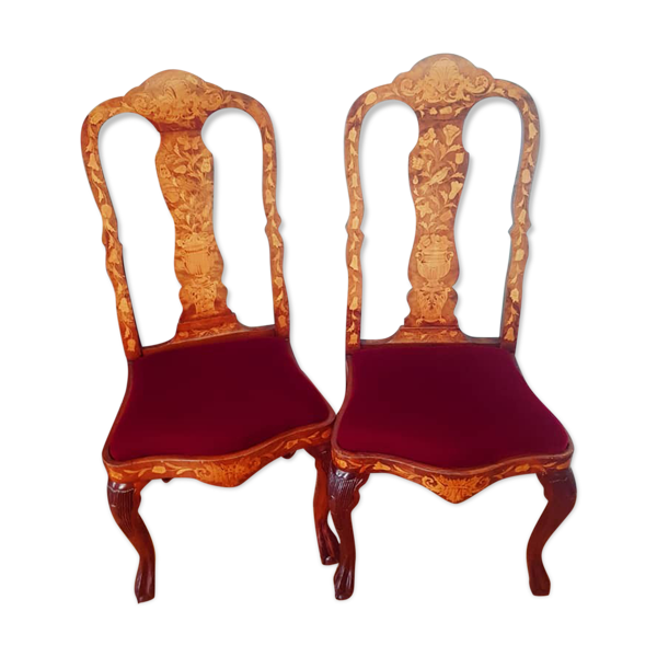 Paire de chaises hollandaises, fin XIXème