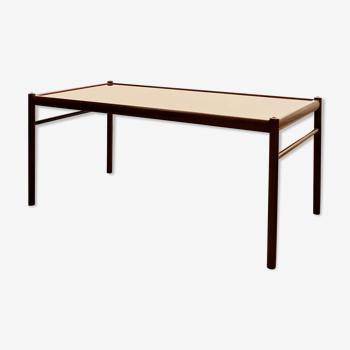 Table basse en acajou colonial danois du milieu du siècle par Ole Wanscher pour Poul Jeppensen