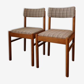 Paire de chaises style danois