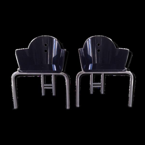 Paire de fauteuils Nathalie