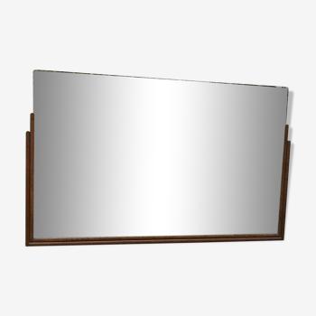 Miroir Art déco en teck des années 30