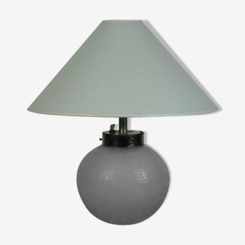 Lampe en verre art deco par Daum