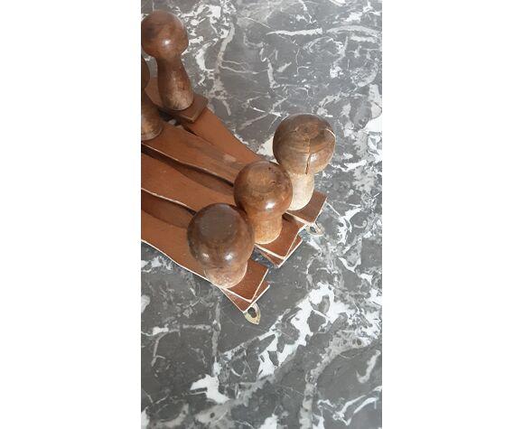 Porte-manteau en bois vintage