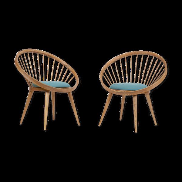 Paire de fauteuils scandinaves 1950