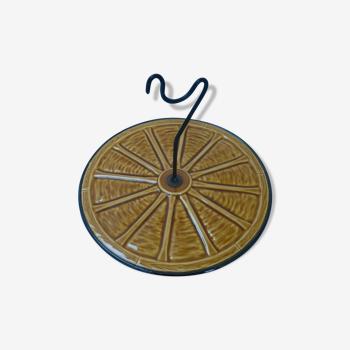 Plateau de fromage en céramique, années 60/70