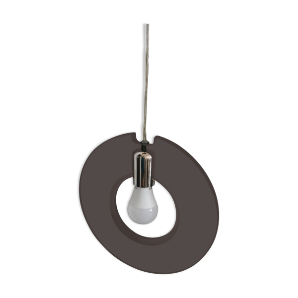 Suspension anneau orbite plexiglas chrome 70