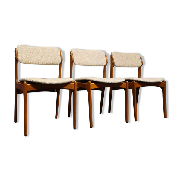 Selency Chaises à manger vintage Dansih design par Erik Buch pour O.D. Møbler modèle 49 x 6