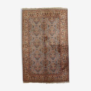 Tapis vintage Indien Tabriiz fait main 126cm x 188cm 1960