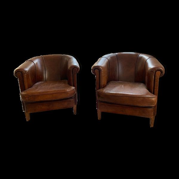 Selency Pair de fauteuils clubs néerlandaises