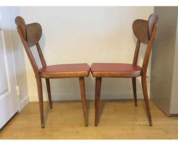 Lot de deux chaises bistrot Thonet 1950