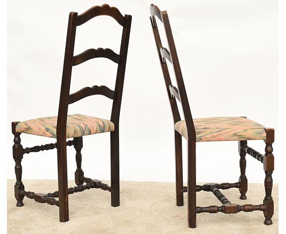 6 Chaises rustiques