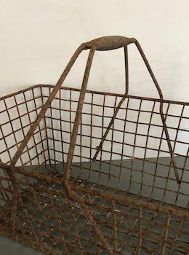 Panier ancien métallique jardin ou déco