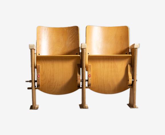 Pair of cinema folding seats