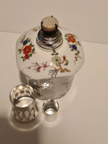 Lampe Berger Porcelaine de Limoges Giraud décor floral