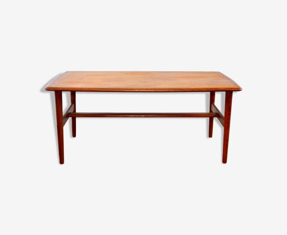 Table basse scandinave teck vintage 1960