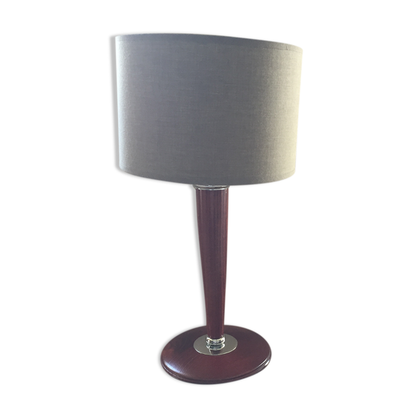 Lampe de bureau vintage pied bois