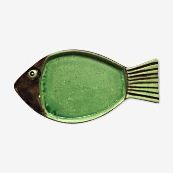 Plat poisson céramique