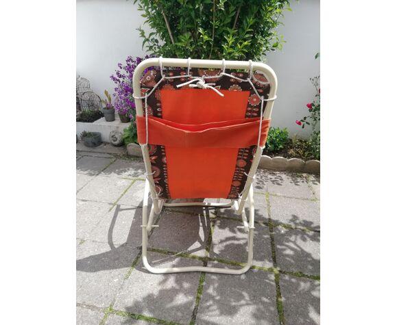 Transat chaise longue vintage 1970