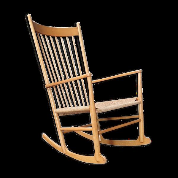 Selency J16 chaise berçante par Hans J. Wegner pour Fredicia, années 1970